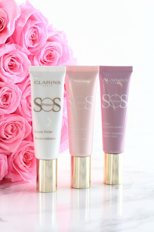 [Anzeige - Produktplatzierung] Die SOS Primer aus der neuen Clarins Frühjahrskollektion 2018 - 00 - universal light - 01 - rosé - 05 lavender
