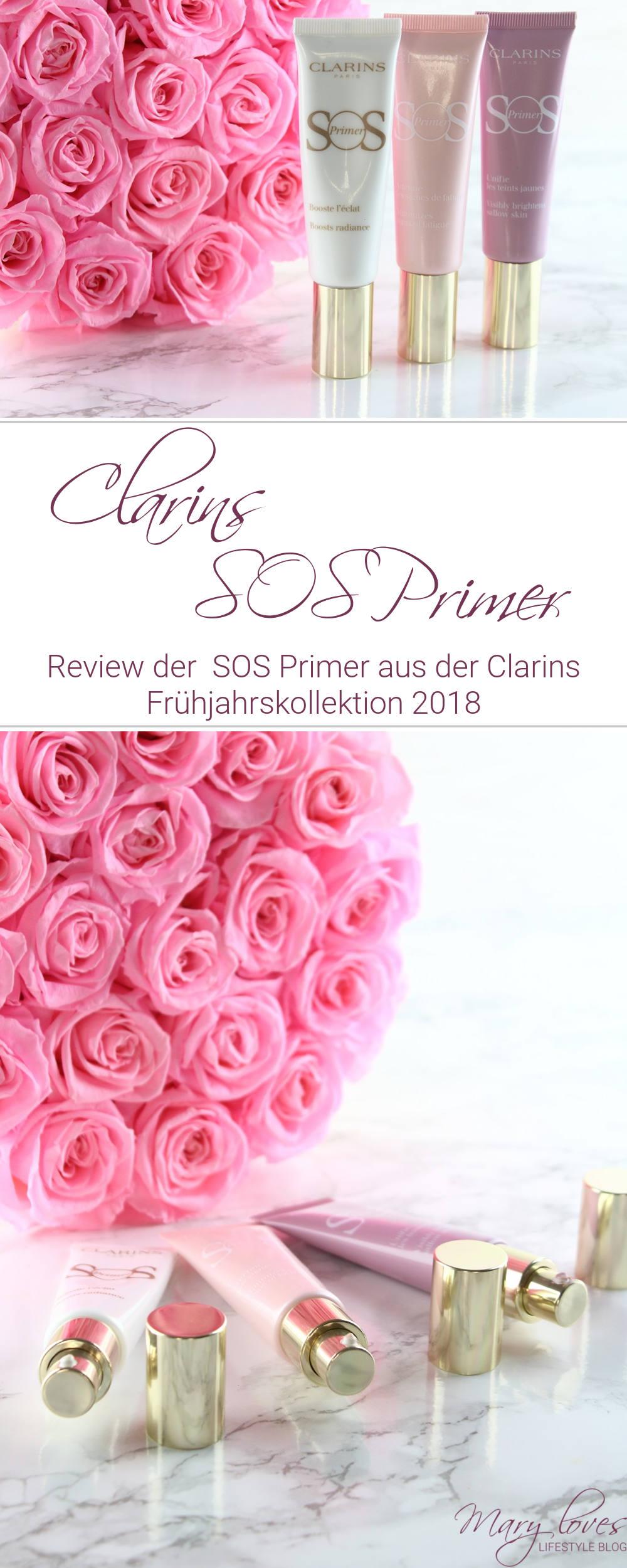 [Anzeige - Produktplatzierung] Die SOS Primer aus der neuen Clarins Frühjahrskollektion 2018 - 00 - universal light - 01 - rosé - 05 lavender #clarins #sosprimer #primer #beautyreview