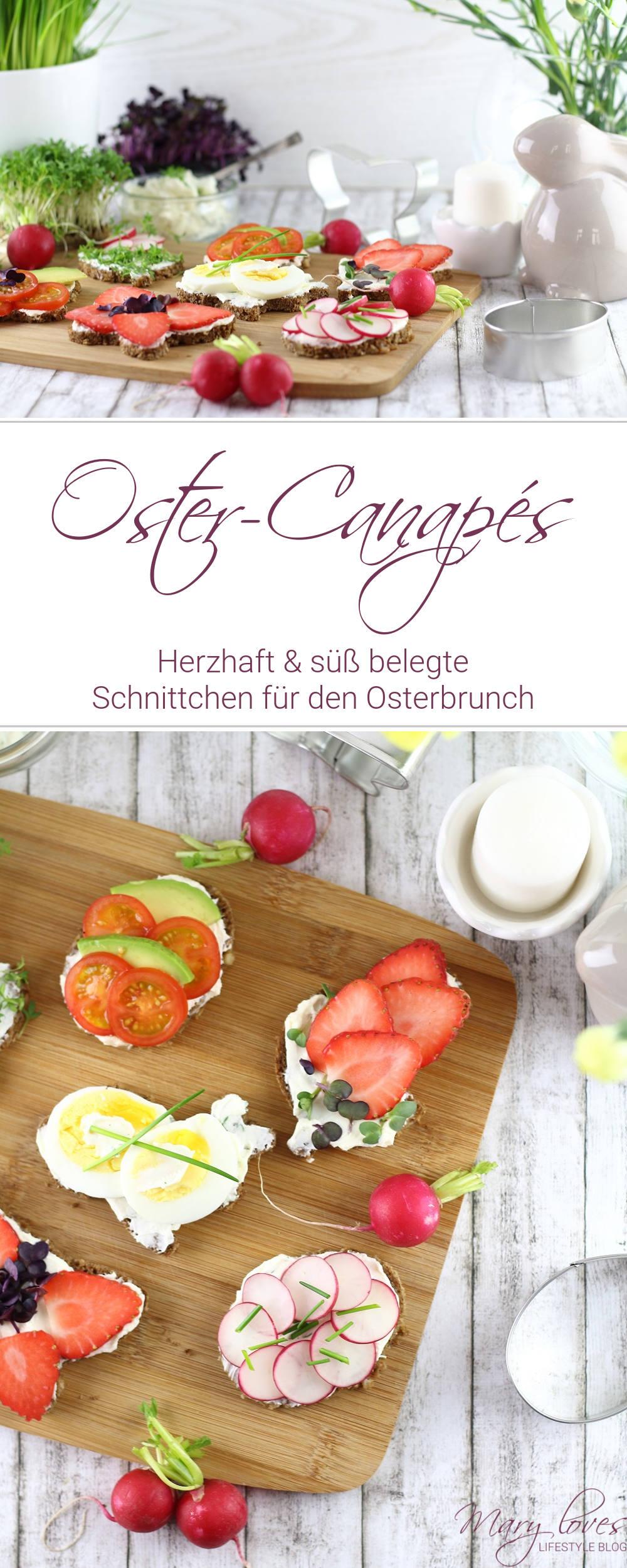 Herzhafte und süße Oster-Canapés als Vorspeise für den Osterbrunch - #ostern #ostercanapes #canapes #ostervorspeise #osterbrunch #osteridee #vegetarisch