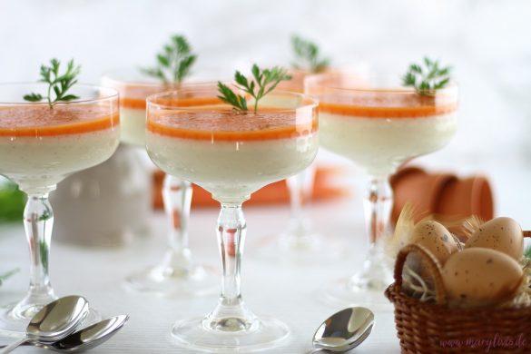 Süßer Osterbrunch: Buttermilch-Honig Panna Cotta mit Karotten-Topping