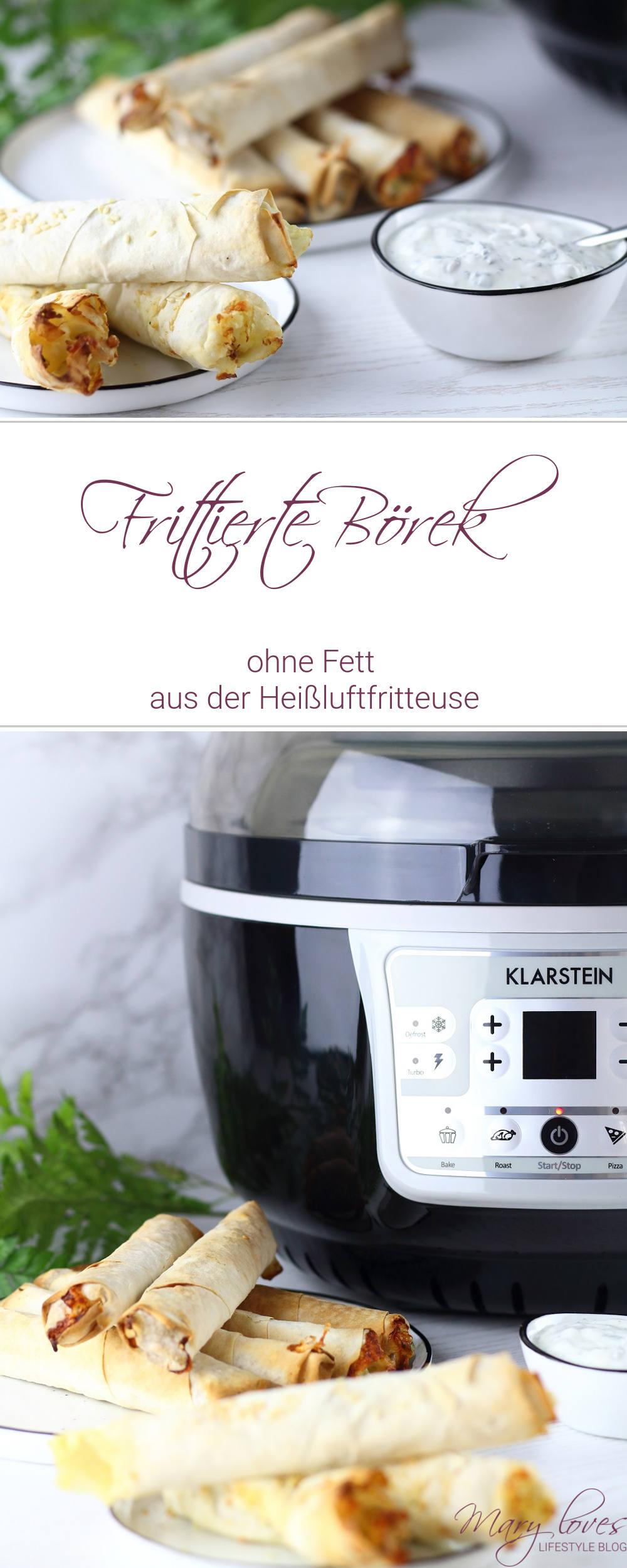 [Anzeige] Gesund frittiert - Selbstgemachte Börek aus der Klarstein VitAir Turbo Heißluftfritteuse - #börek #heißluftfritteuse #vitairturbo #klarstein #lowfat #fettfrei