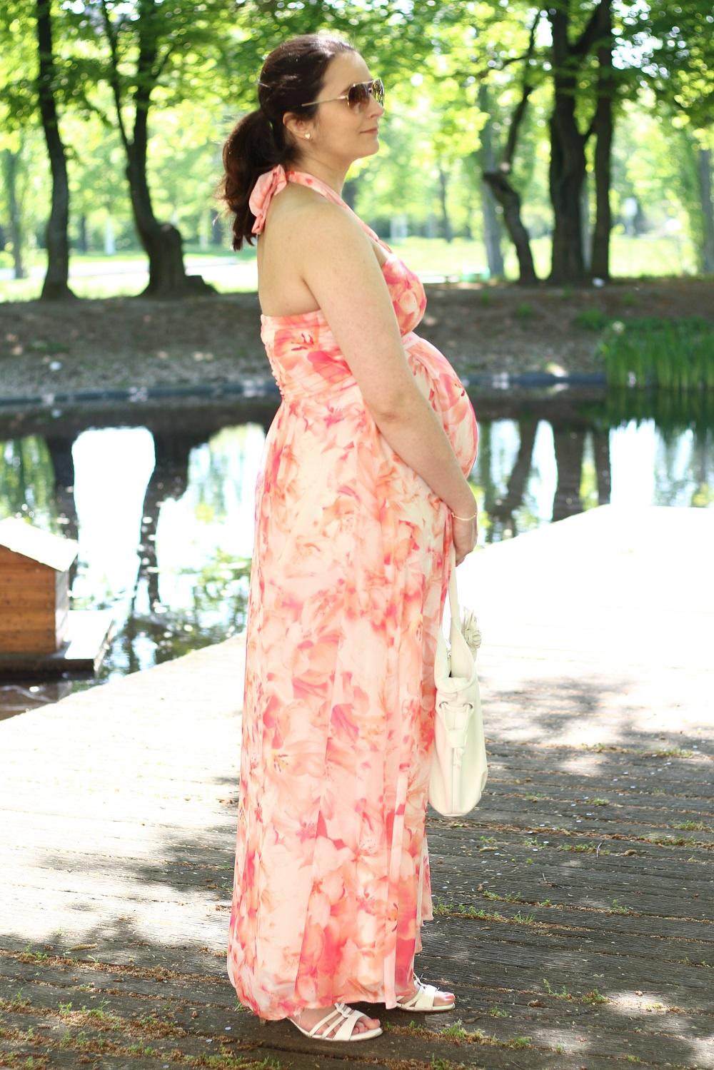Schwangerschaftsoutfit - Maxikleid im Frühling - 27. SSW