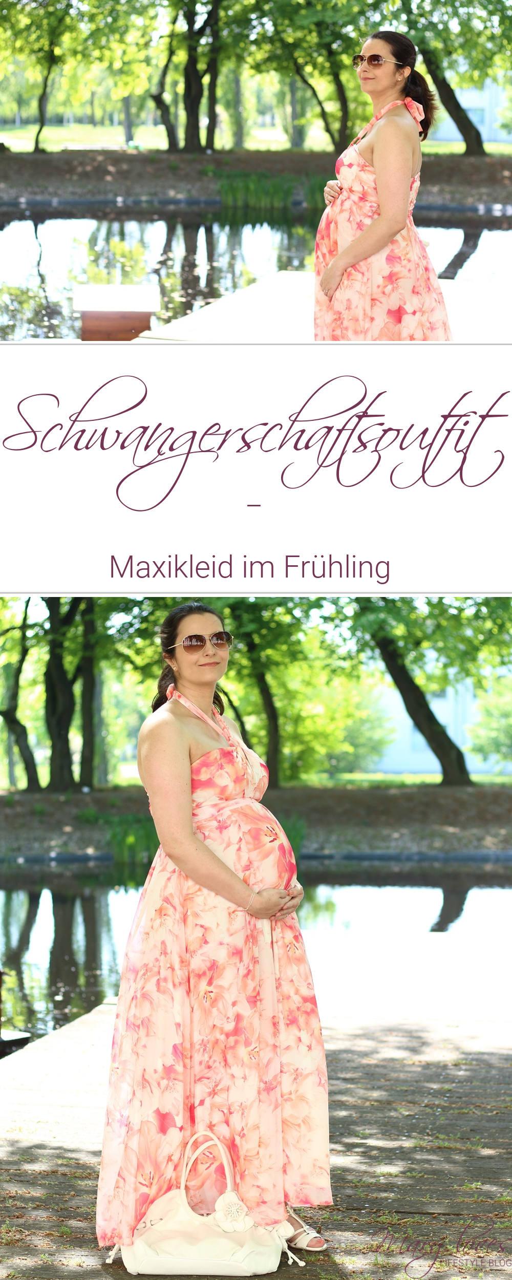 Schwangerschaftsoutfit - Maxikleid im Frühling - 27. SSW - #schwangerschaft #schwangerschaftsoutfit #schwangerschaftslook #maxikleid #schwangerschaftsmode