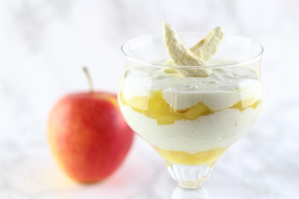 [Anzeige] Apfel-Vanille-Quarkspeise mit natürlicher Süße