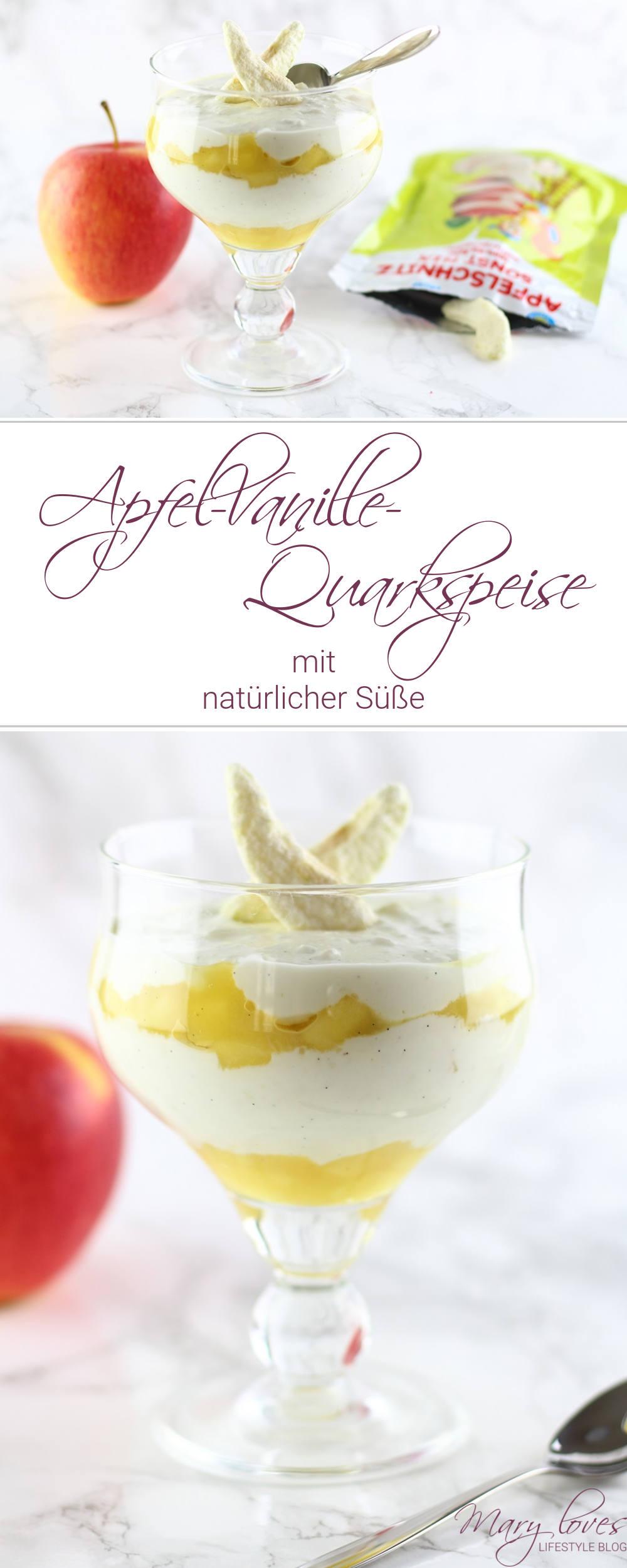 [Anzeige] Apfel-Vanille-Quarkspeise mit natürlicher Süße mit dem neuen HiPP Apfelschnitz - #hipp #apfelschnitz #quarkspeise #apfelvanillequarkspeise #kindernachtisch