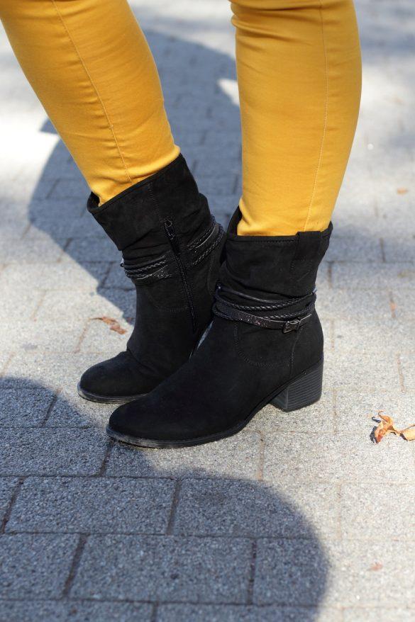 [Anzeige] Mein Herbstoutfit mit dem Trendmuster Karo - Graceland Stiefeletten