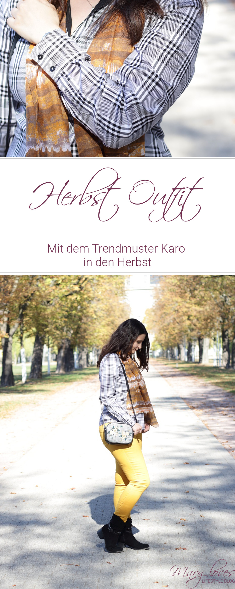 [Anzeige] Mein Herbstoutfit mit dem Trendmuster Karo - #karo #karomuster #herbstoutfit #herbsttrend #eterna #bluse #karobluse #outfitinspiration #outfit #herbstlook #muster #trendmuster