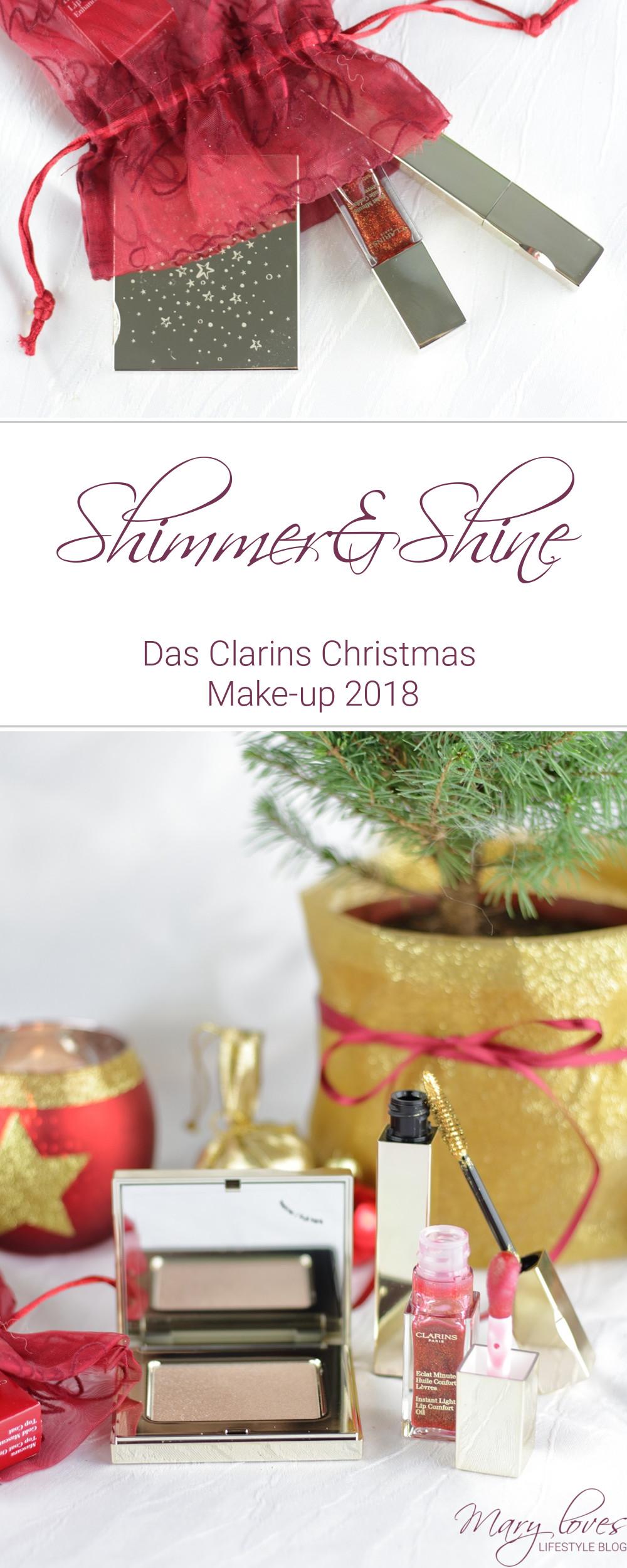 [Anzeige - Produktplatzierung] Shimmer & Shine - Clarins Christmas Make-up 2018 - #clarins #clarinsmakeup #makeup #weihnachtsmakeup #shimmerandshine #makeupkollektion #beauty