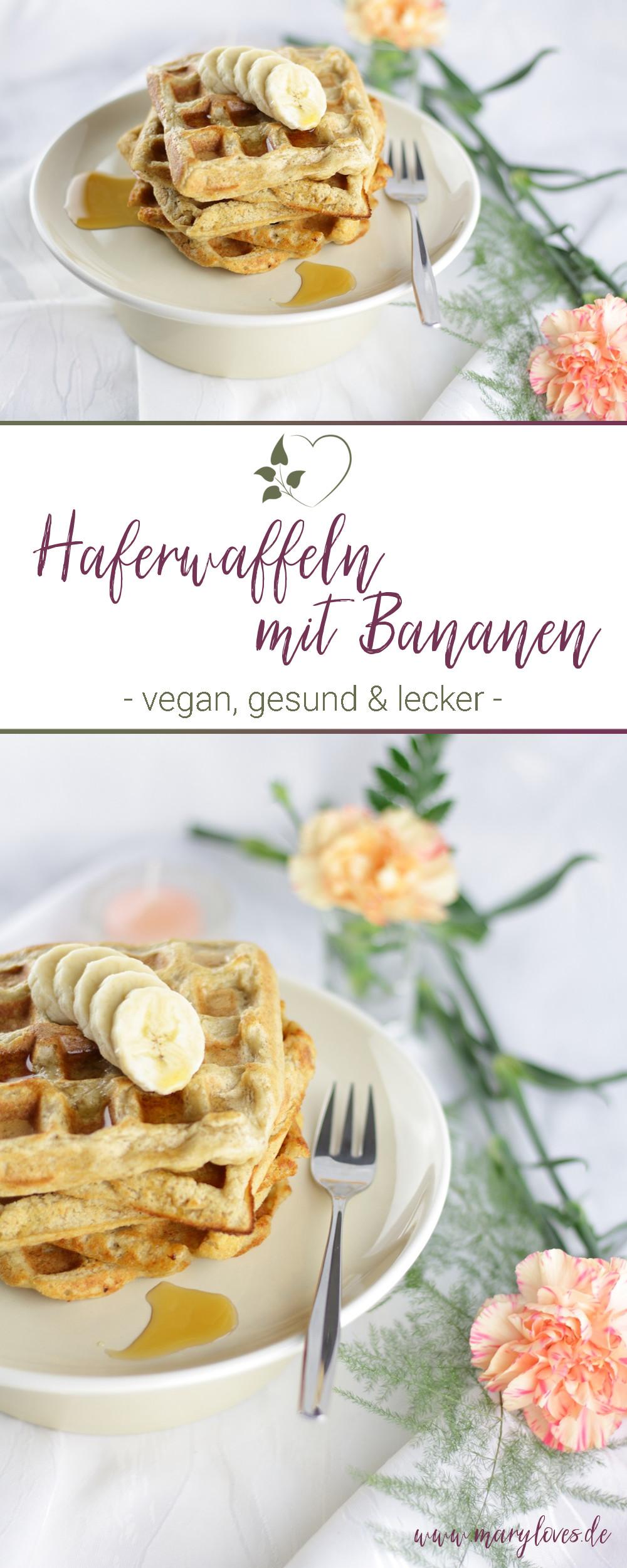 Gesundes Frühstück - Vegane Haferwaffeln mit Bananen - #haferwaffeln #waffeln #frühstück #vegan #veganewaffeln #bananenwaffeln #veganesfrühstück #waffelrezept #zuckerfrei