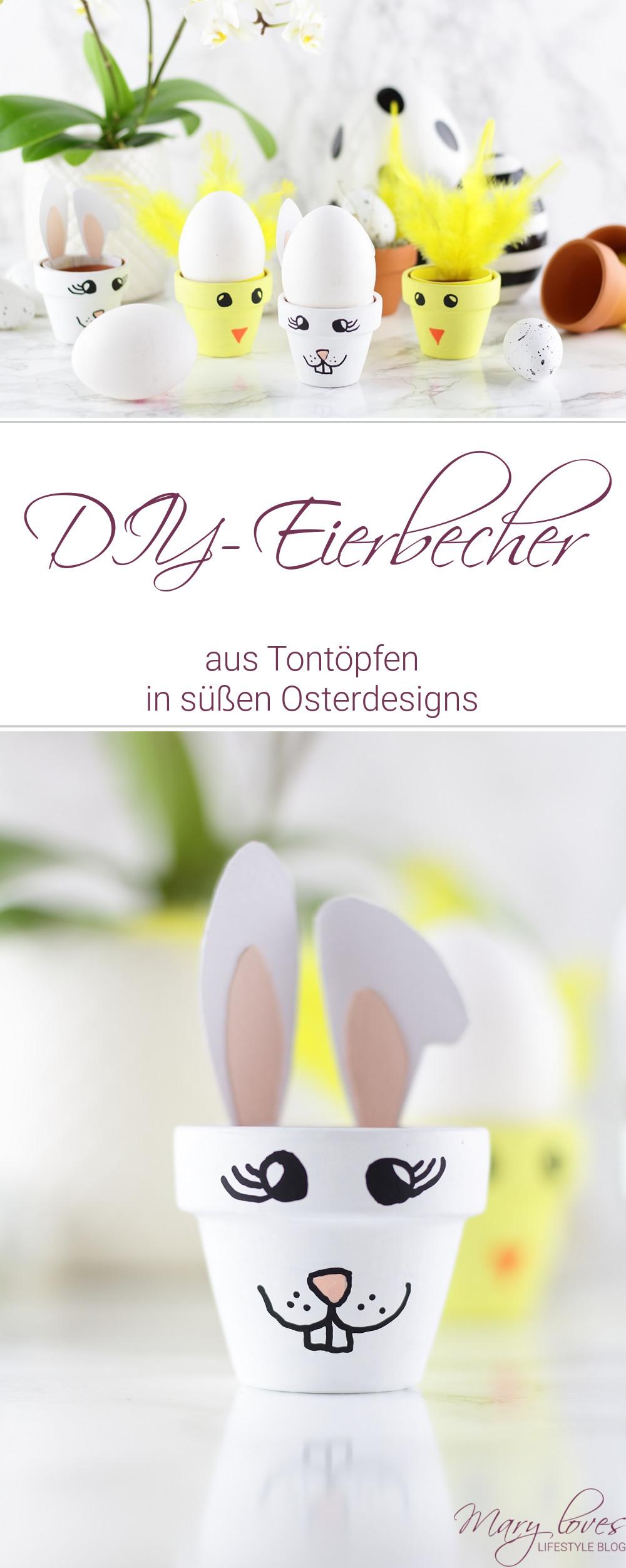 [Anzeige] DIY-Eierbecher aus Tontöpfen in süßen Osterdesigns - #DIY #Ostern #ostereierbecher #diyeierbecher #diyostereierbecher #bastelnmittontöpfen #osterbastelei #osterdiy #bastelnmitkindern #pilotpintor