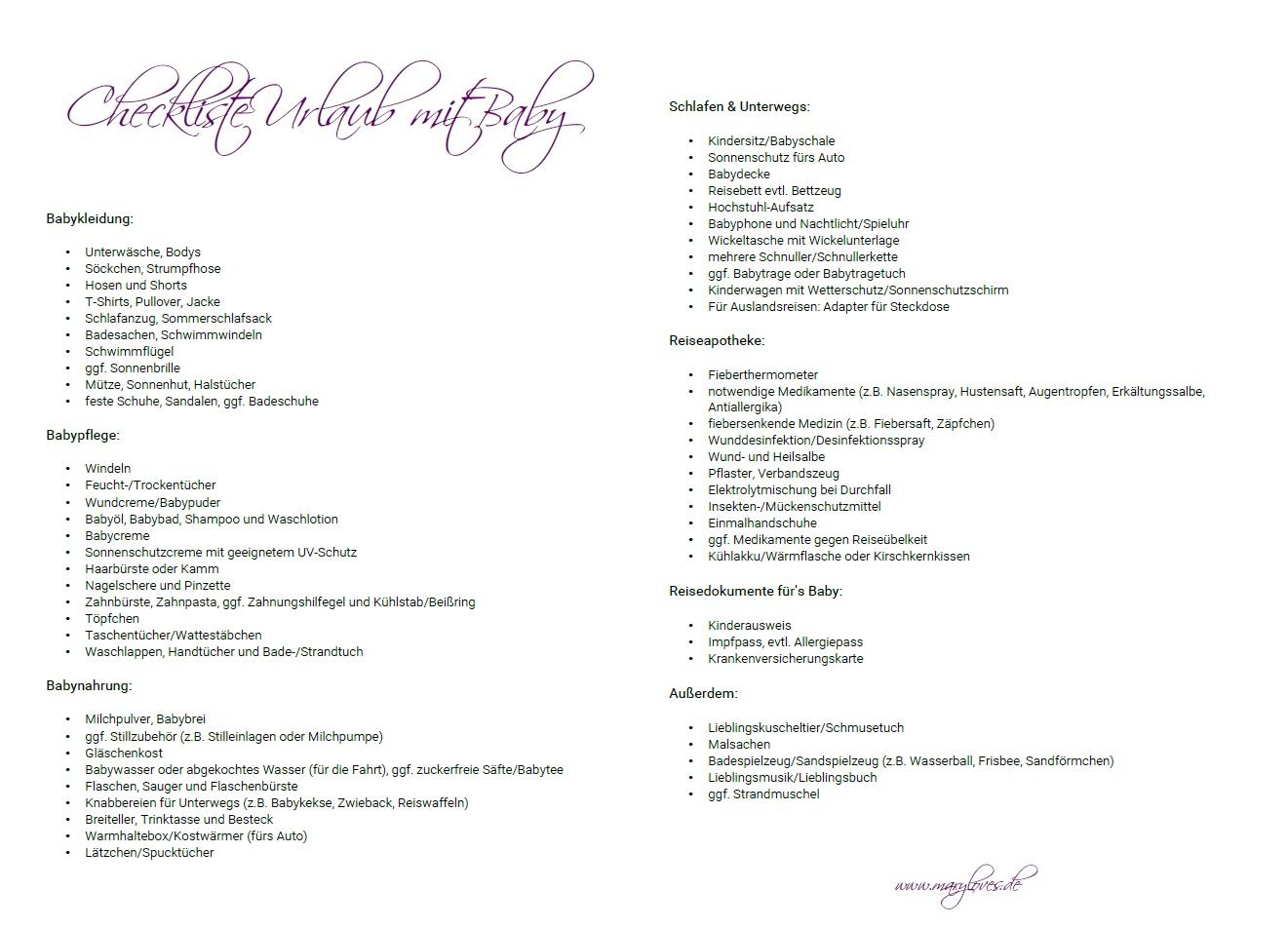 [Werbung unbeauftragt - enthält Partnerlinks] Checkliste für den Badeurlaub
