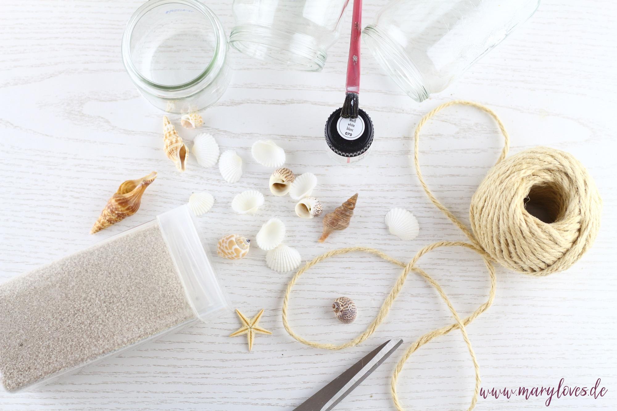 Materialien für maritime Sommerdeko