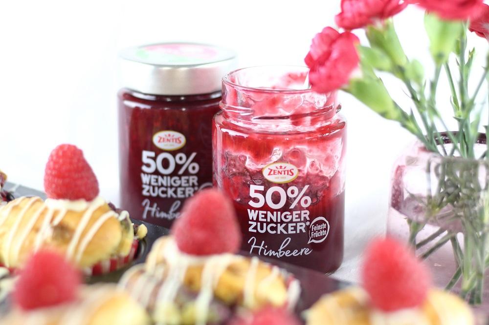[Anzeige] Backen mit dem Zentis Fruchtaufstrich Himbeere 50% weniger Zucker