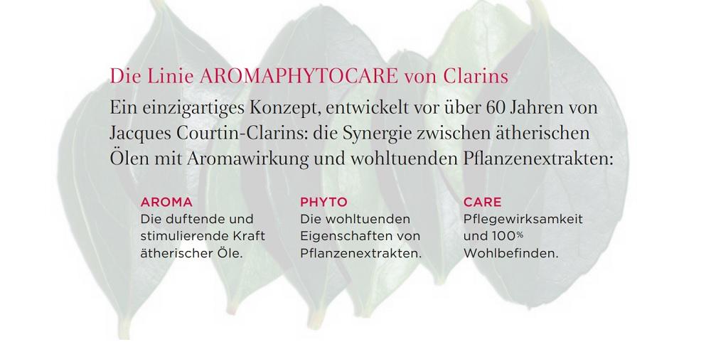 [Anzeige] Die Line Aromaphytocare von Clarins - Foto: Screenshot Clarins