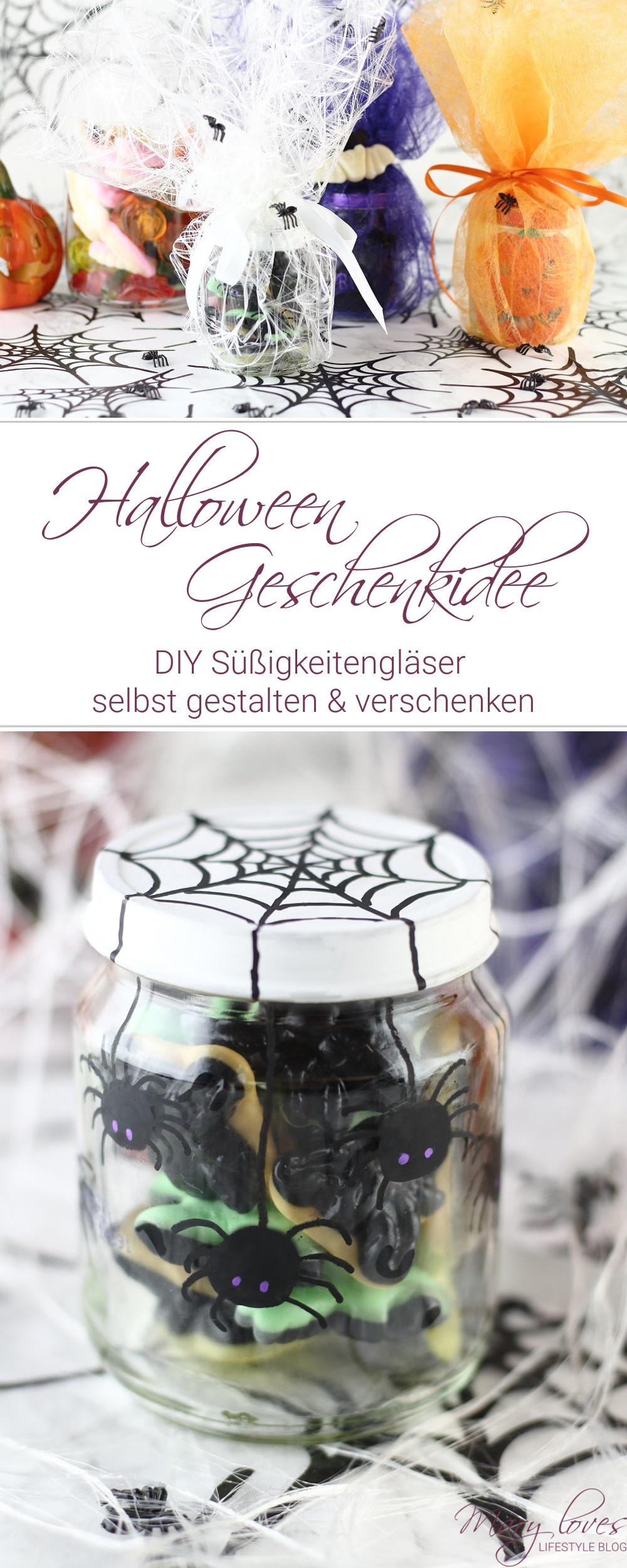 [Anzeige] Halloween-Geschenkidee - DIY Süßigkeitengläser selbst gestalten - #halloween #halloweendiy #süßigkeitengläser #süßesodersaures #geschenkidee #halloweengeschenk #bastelnmitkindern