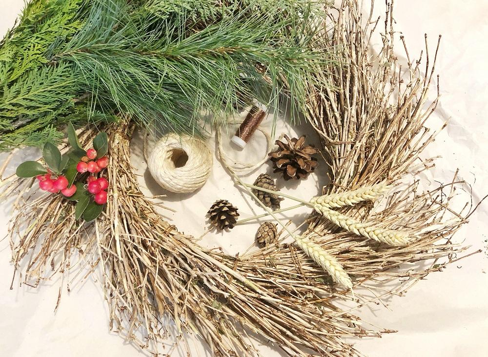 DIY Herbstkranz aus Naturmaterialien basteln - Materialien