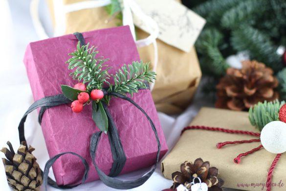 Geschenke nachhaltig verpacken für weniger Müll an Weihnachten