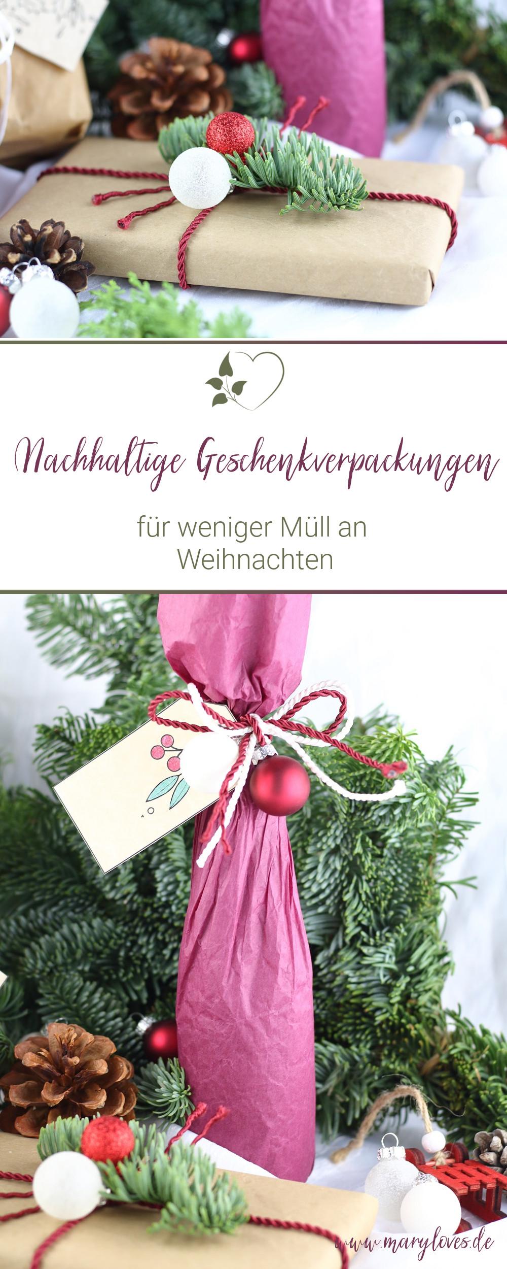 Geschenke nachhaltig verpacken für weniger Müll an Weihnachten - #nachhaltigkeit #nachhaltigegeschenkverpackungen #geschenke #nachhaltigeweihnachten #nachhaltigegeschenke #lesswastexmas