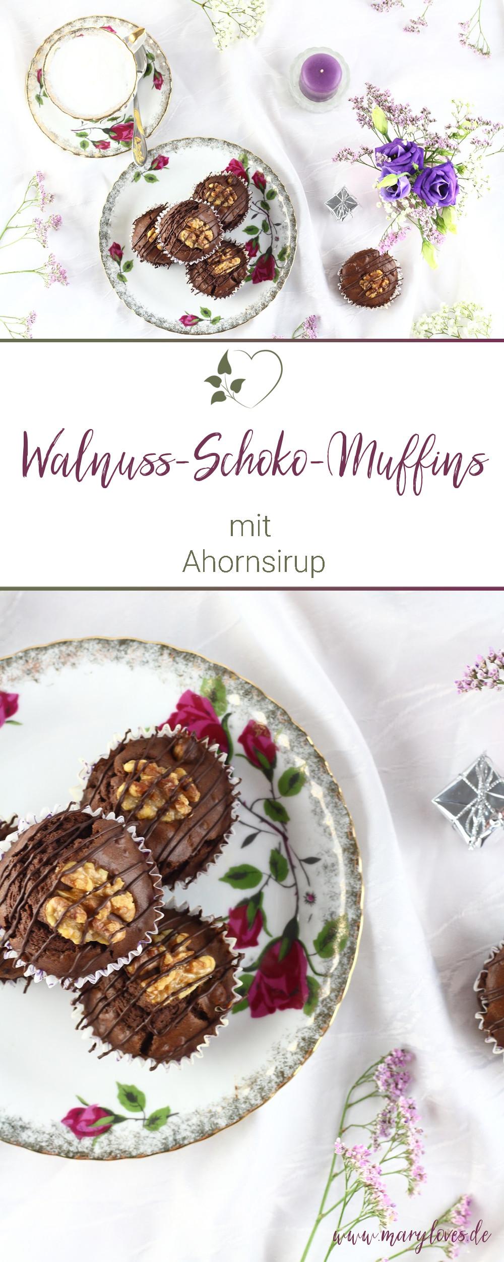Walnuss-Schokoladen-Muffins mit Ahornsirup #walnussschokomuffins #muffins #walnussmuffins #schokomuffins #zuckerfrei #zuckerfreibacken