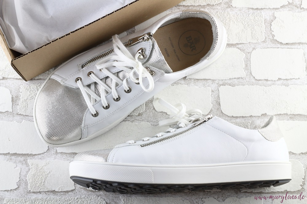 Bär Schuhe Sneaker Margot weiß/silber