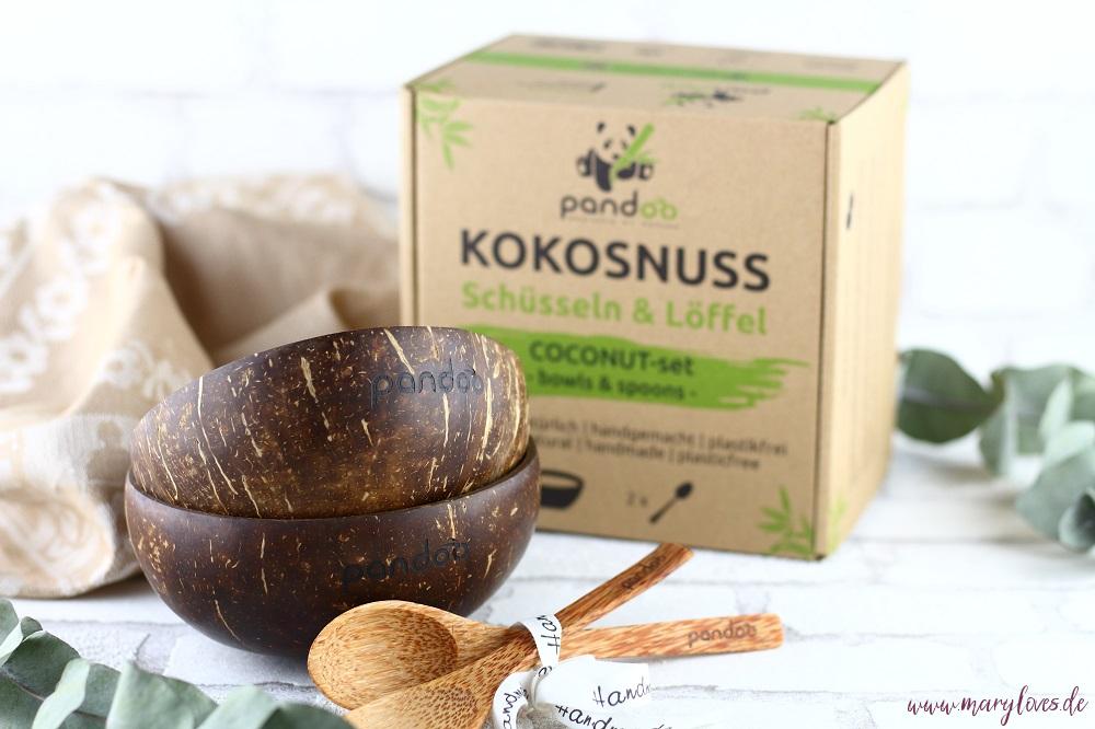 Nachhaltige Kokosnussschalen und Kokospalmenlöffel von Pandoo