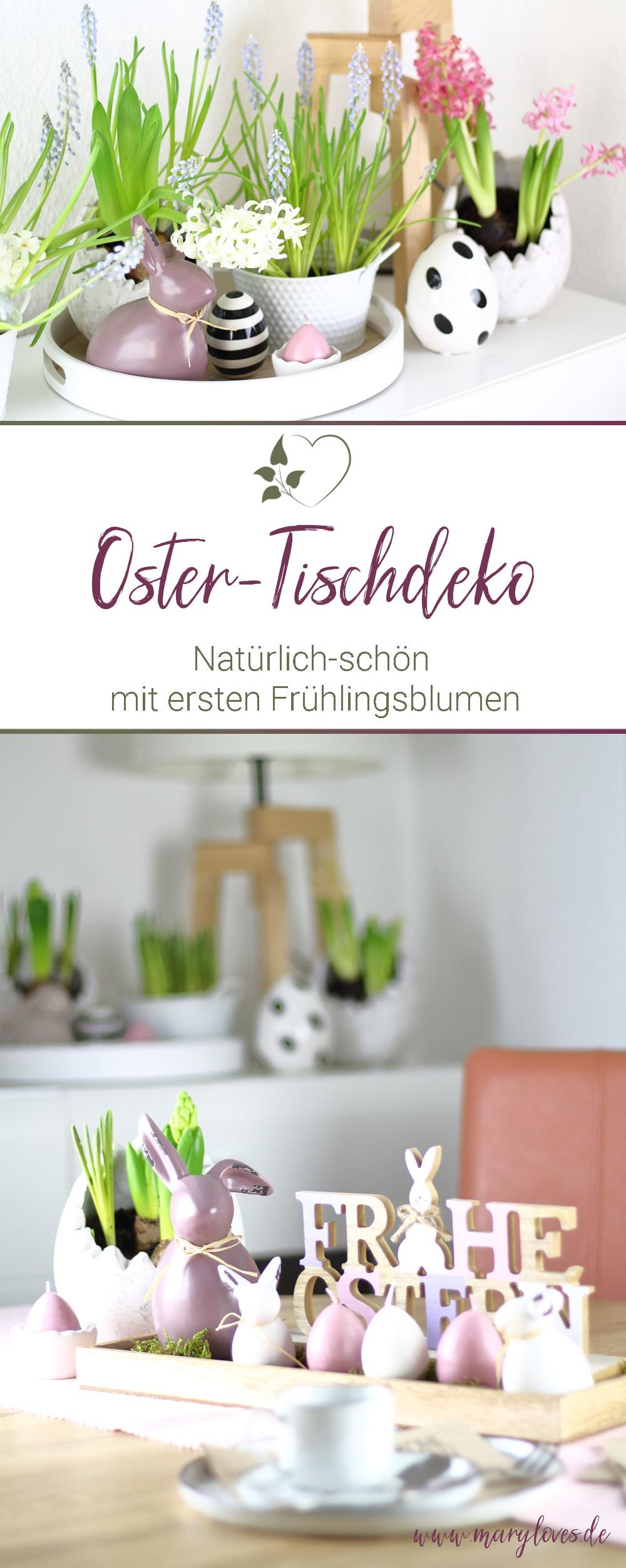 Natürlich-schöne Oster-Tischdeko mit den ersten Frühlingsblumen - #ostern #osterdeko #sotertischdeko #frühling #frühlingsblumen #frühlingsdeko