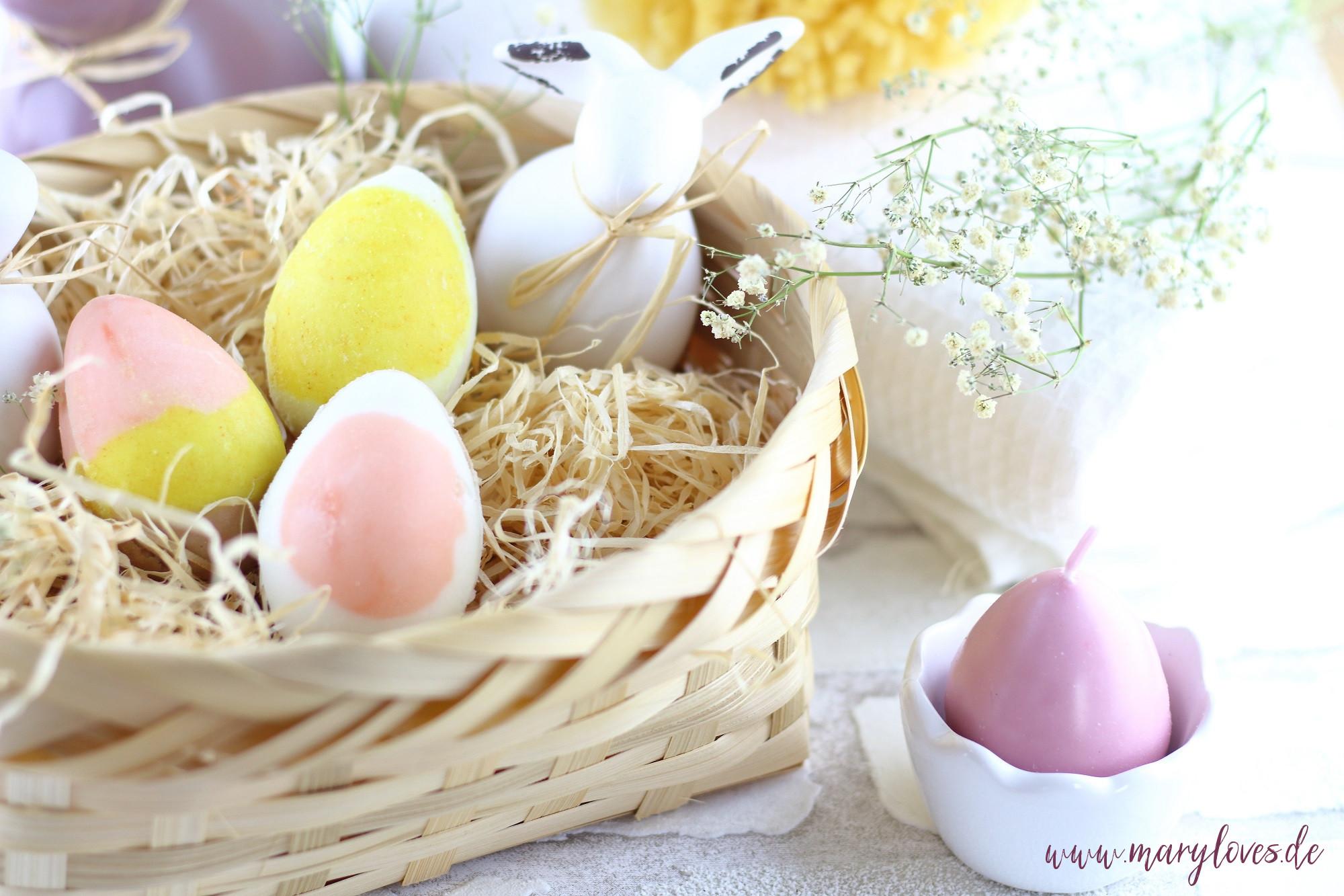 [Werbung unbeauftragt] Geschenke aus dem Osterkörbchen: Bunte Oster-Badebomben in Ei-Form selber machen und zu Ostern eine duftend-sprudelnde Auszeit verschenken
