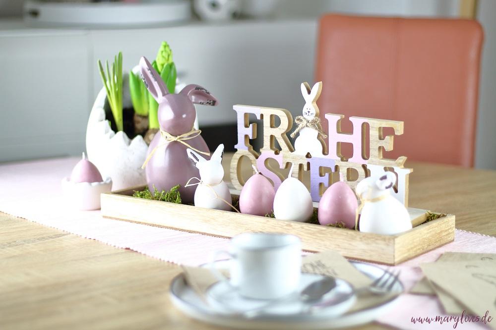 Natürlich-schöne Oster-Tischdeko mit den ersten Frühlingsblumen - Mary Loves