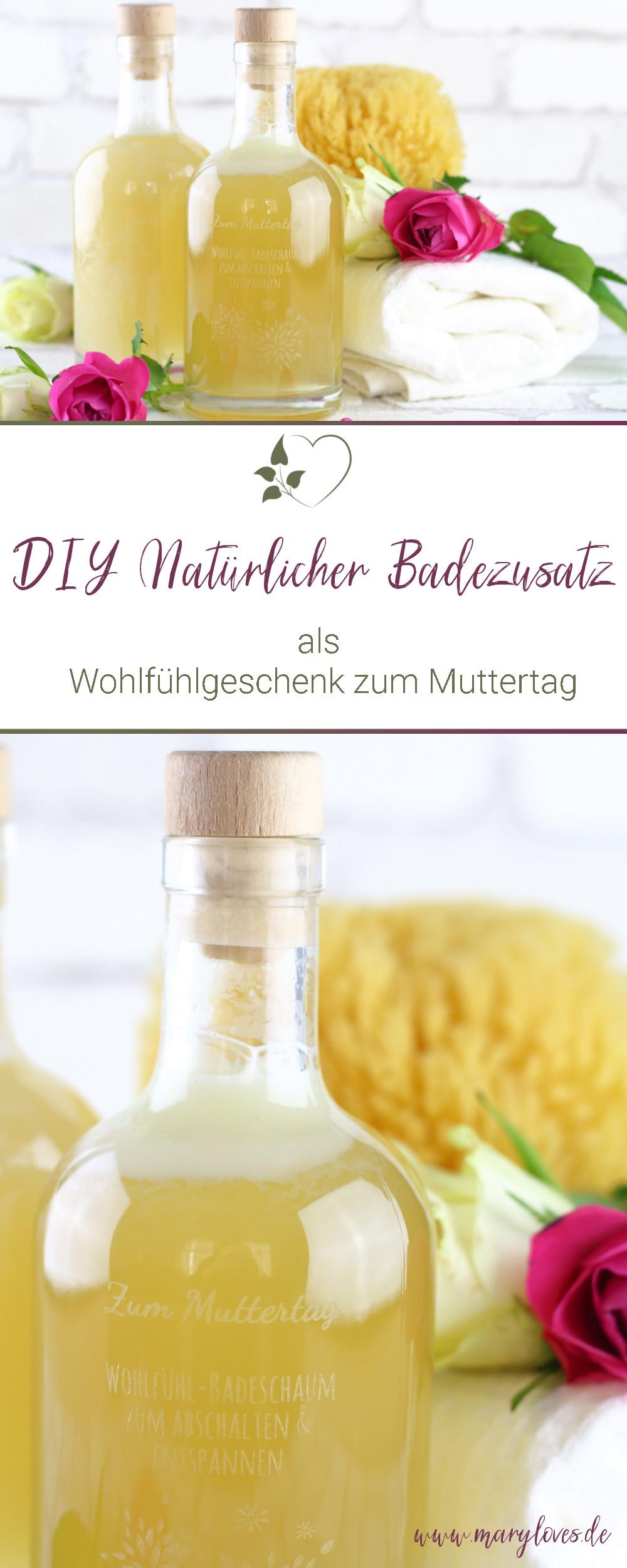 DIY Natürlicher Badezusatz als Geschenkidee zum Muttertag - #diybadezusatz #diybadeschaum #muttertag #muttertagsgeschenk #natürlicherbadezusatz #geschenkidee #diygeschenk