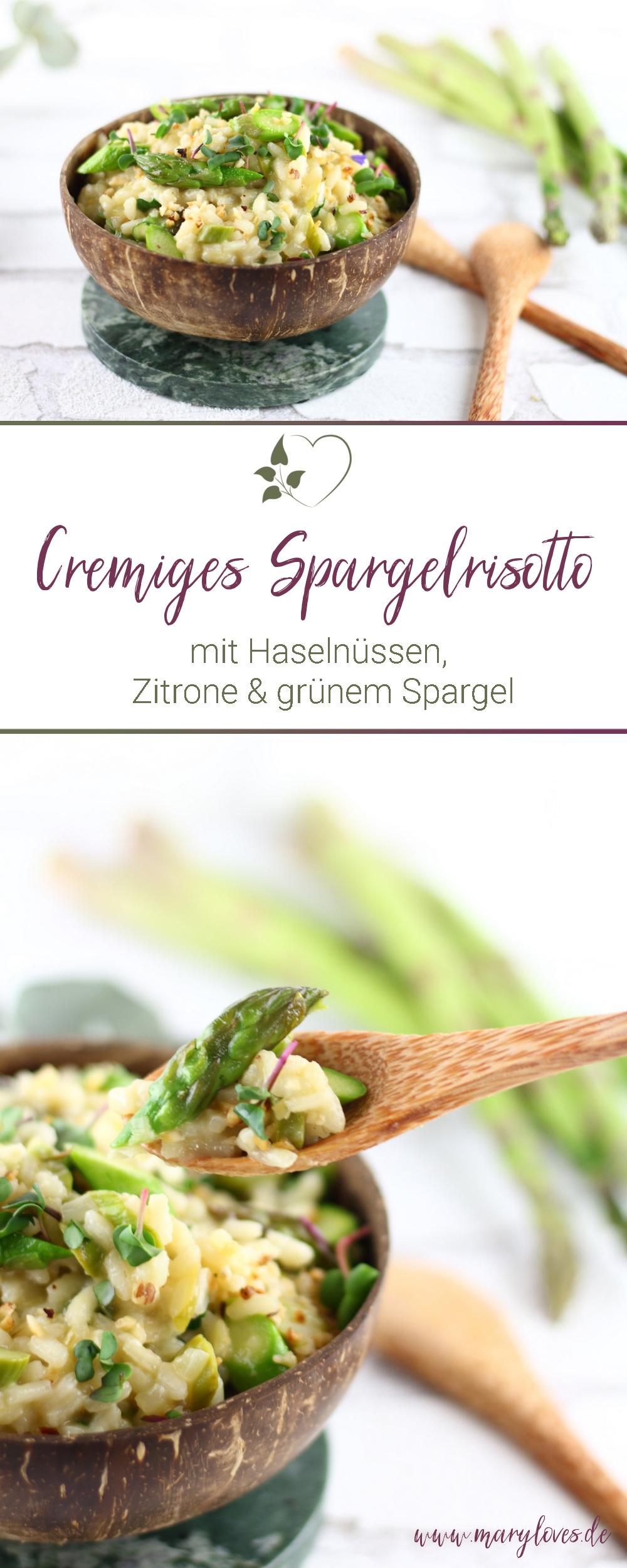 [Werbung unbeauftragt] Cremiges Spargelrisotto mit Haselnüssen, Zitrone und grünem Spargel - #spargel #grünerspargel #grünspargel #risotto #spargelrisotto #vegetarisch #spargelsaison
