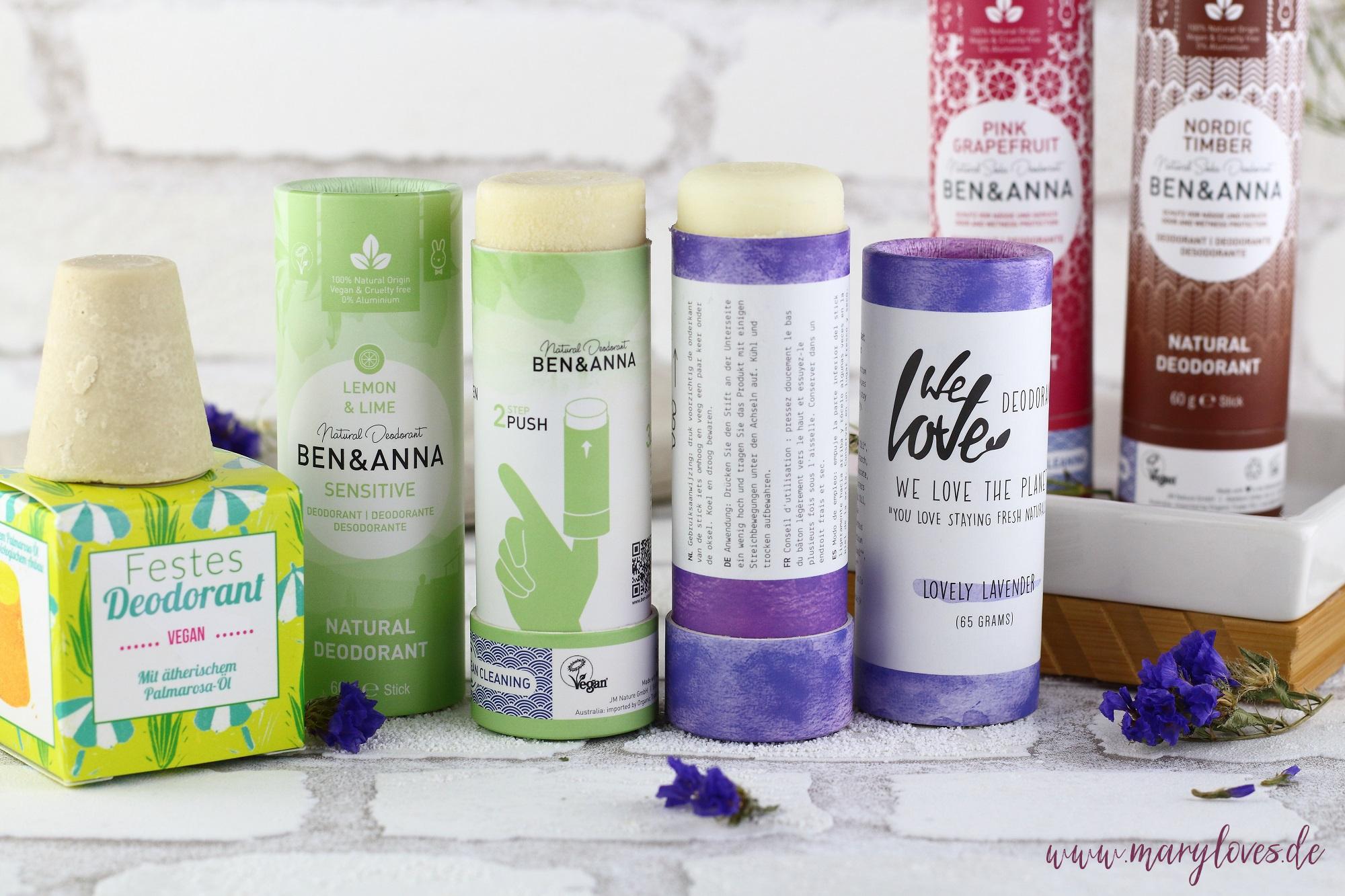 5 natürliche plastikfreie Deos ohne Aluminium für mehr Nachhaltigkeit im Badezimmer