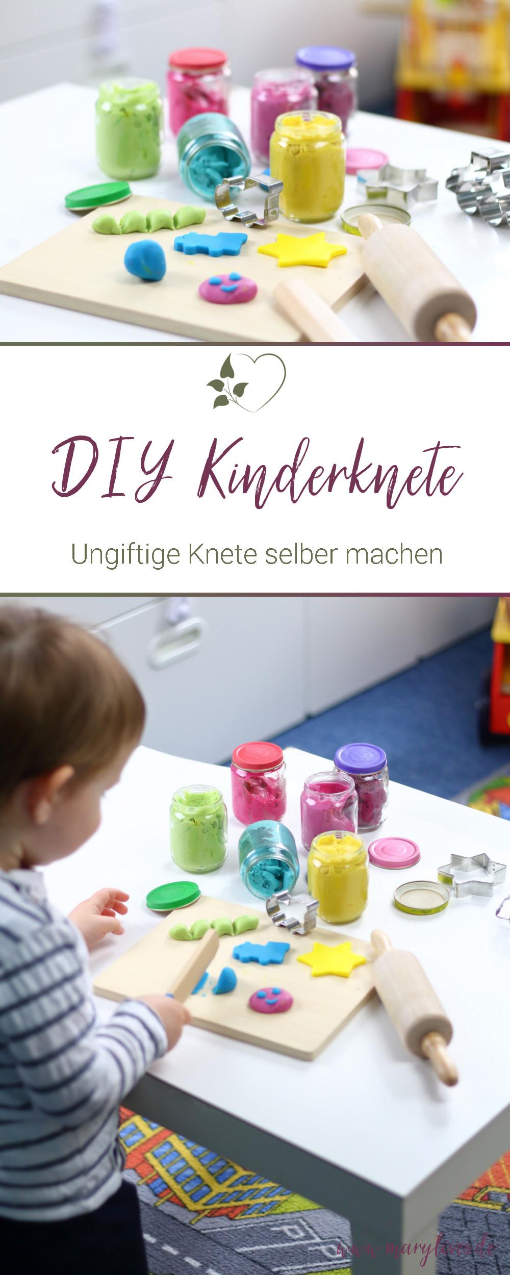 [Anzeige] DIY Kinderknete - Ungiftige Knete selber machen - #diyknete #diykinderknete #kneteselbermachen #ungiftigeknete #knete #spielidee #kleinkindbeschäftigung