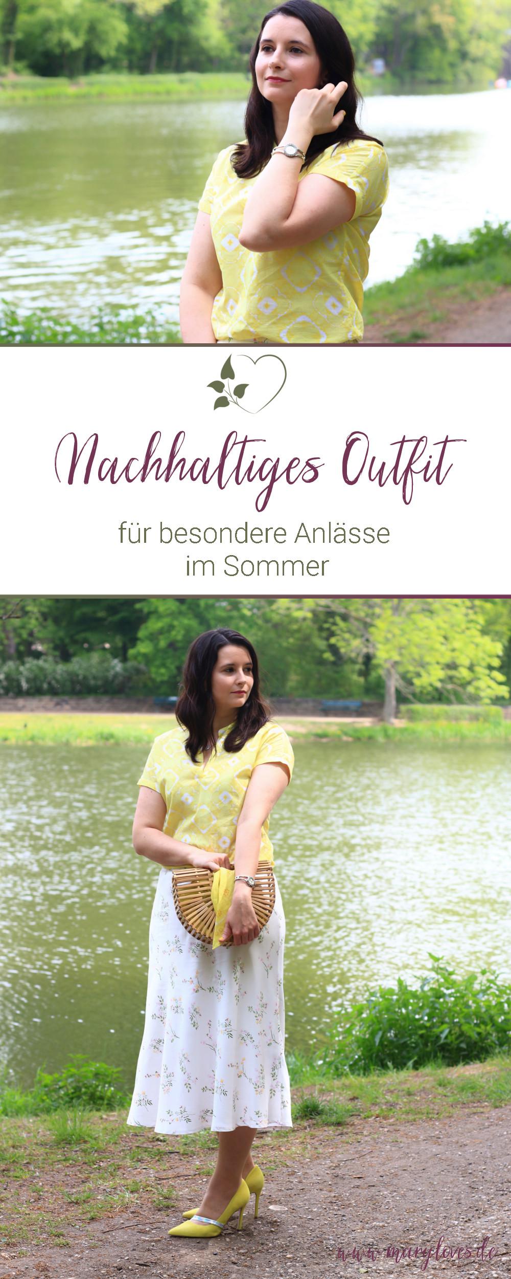 [Anzeige] Mein nachhaltiges Sommeroutfit für besondere Anlässe - #faieresommermode #sommerlook #nachhaltigemode #fairfashion #sommeroutfit #sommermode