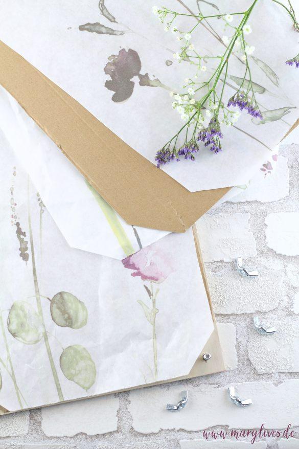 Blumenpresse zusammenbauen