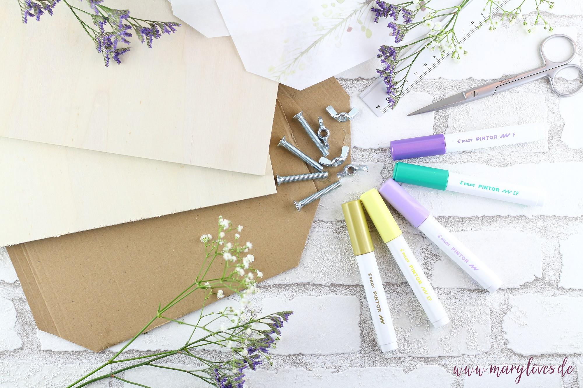 Material für selbstgebaute Blumenpresse