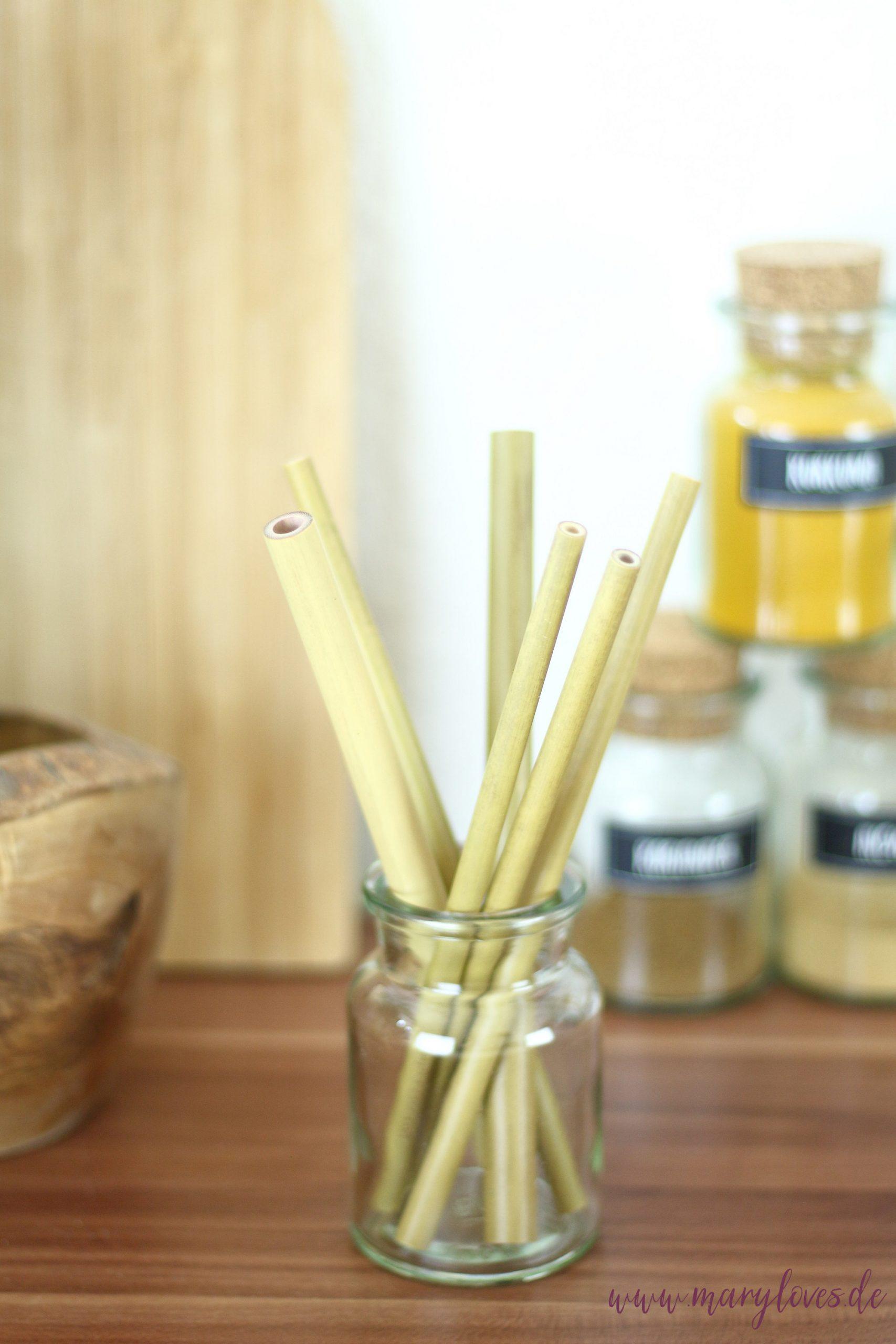 Nachhaltige Küche - Bambusstrohhalme