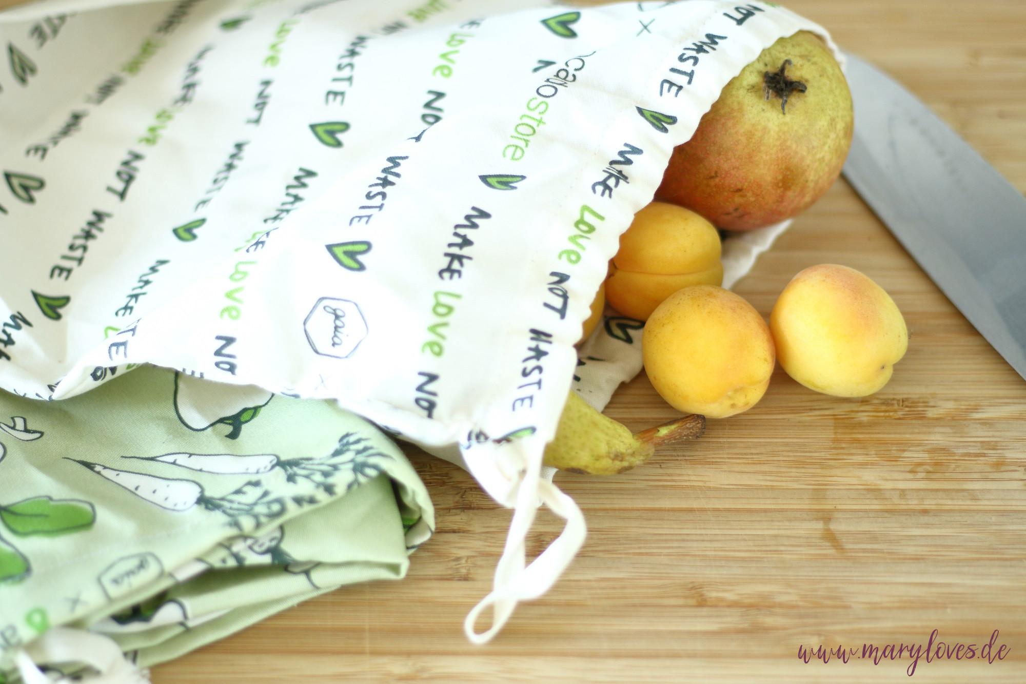 Vorratsbeutel aus Stoff für Obst und Gemüse