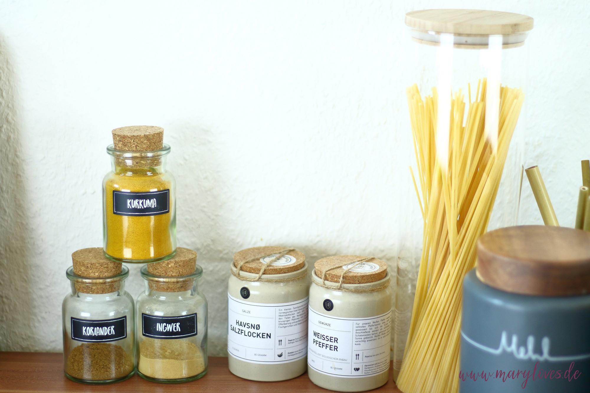 Nachhaltige Küche - Vorratshaltung in Gläsern