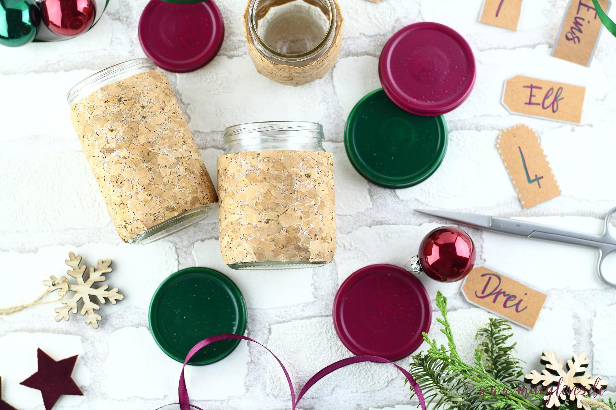 DIY Upcycling Adventskalender dekorieren & gestalten