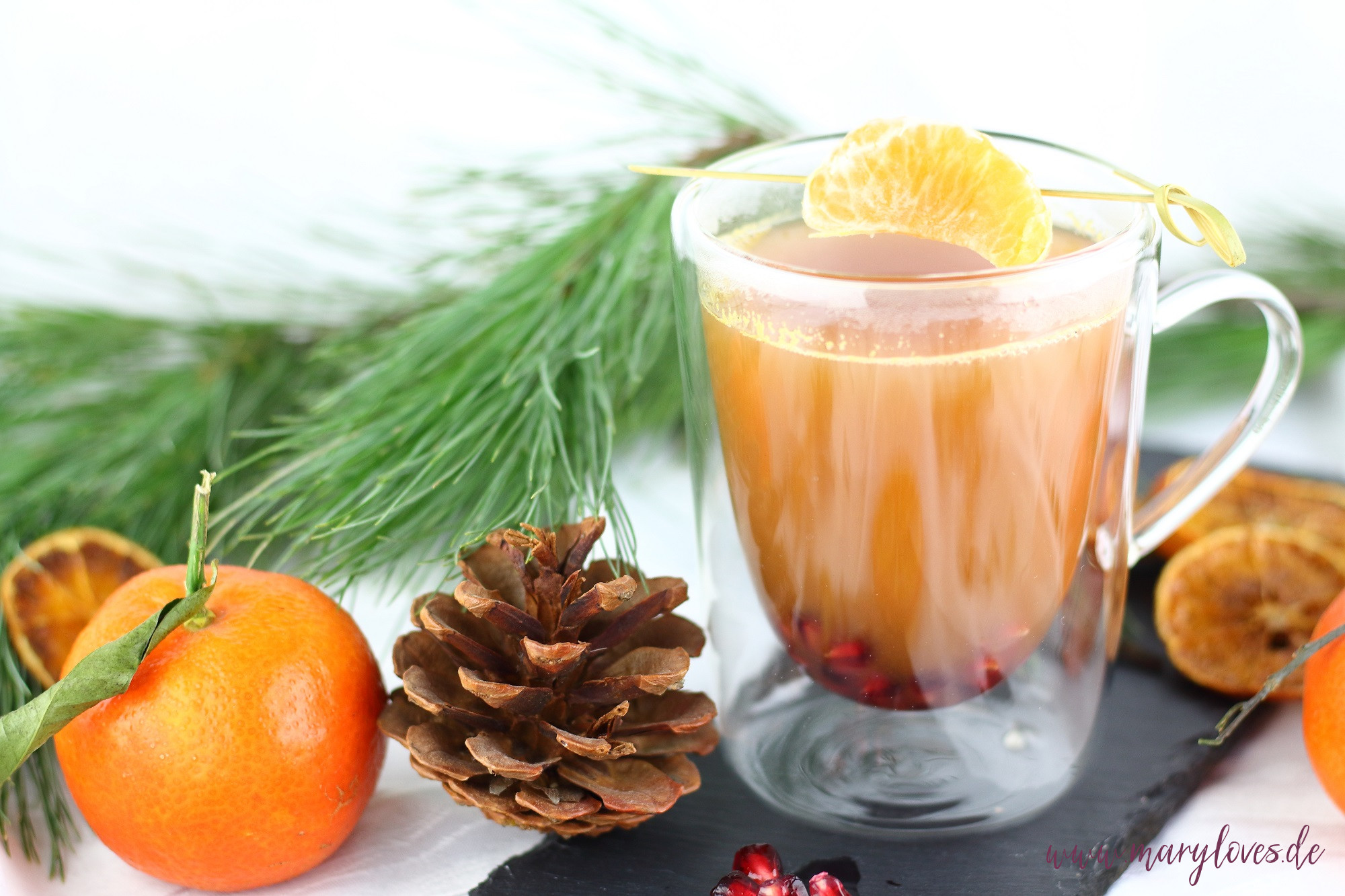 Wärmender Mandarinen-Punsch alkohol- & zuckerfrei