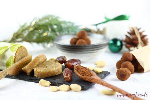 Selbstgemachtes Dattel-Marzipan & gesunde Marzipan-Kartoffeln