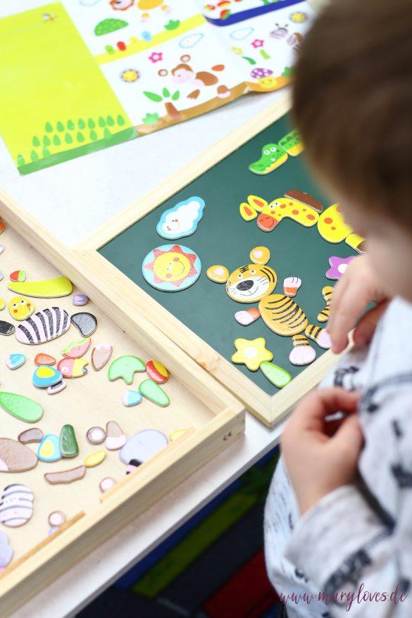 11 Spiel- & Beschäftigungsideen für Kleinkinder zu Hause - Idee 1: Tier-Puzzle als Spielidee für 2-Jährige