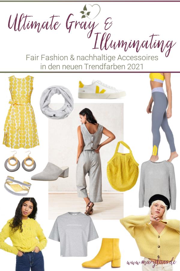 [Werbung unbeauftragt] Nachhaltige Mode in den Trendfarben 2021 Ultimate Gray und Illuminating - #ultimategray #illuminating #modefarben #pantone #fairfashion #nachhaltigemode #modetrends