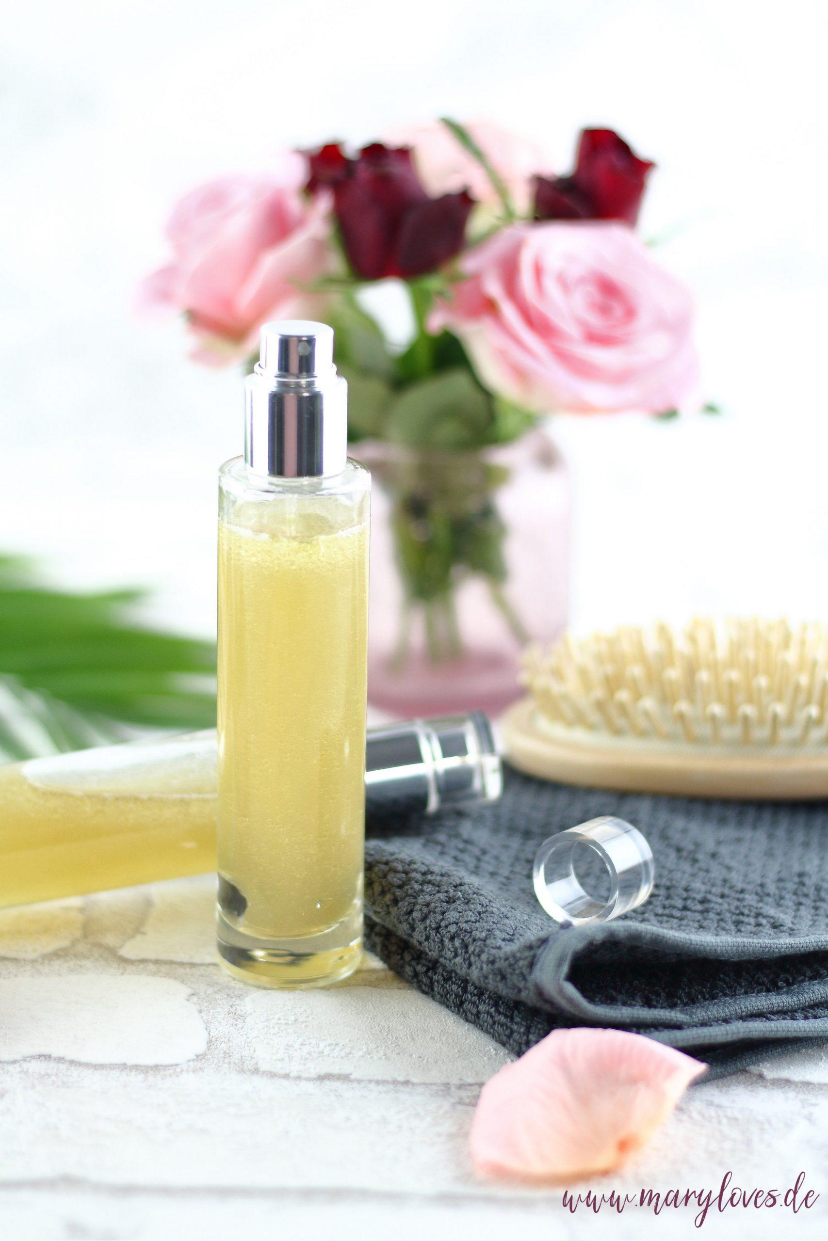 DIY Haarwasser mit grünem Tee & Leinsamen für natürlich gesunde, glänzende Haare