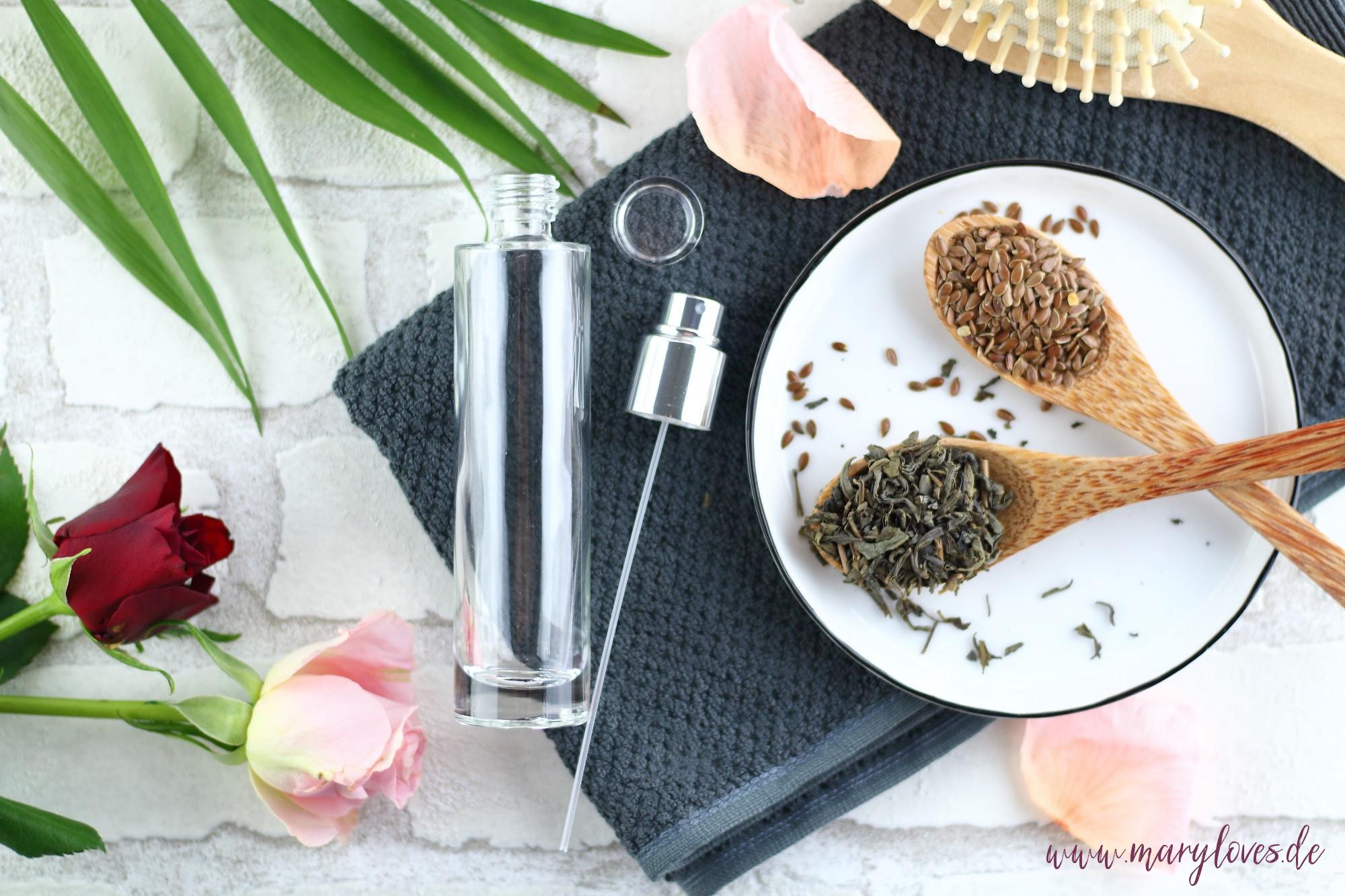 Naturliche Haarpflege Diy Haarwasser Mit Grunem Tee Leinsamen Mary Loves