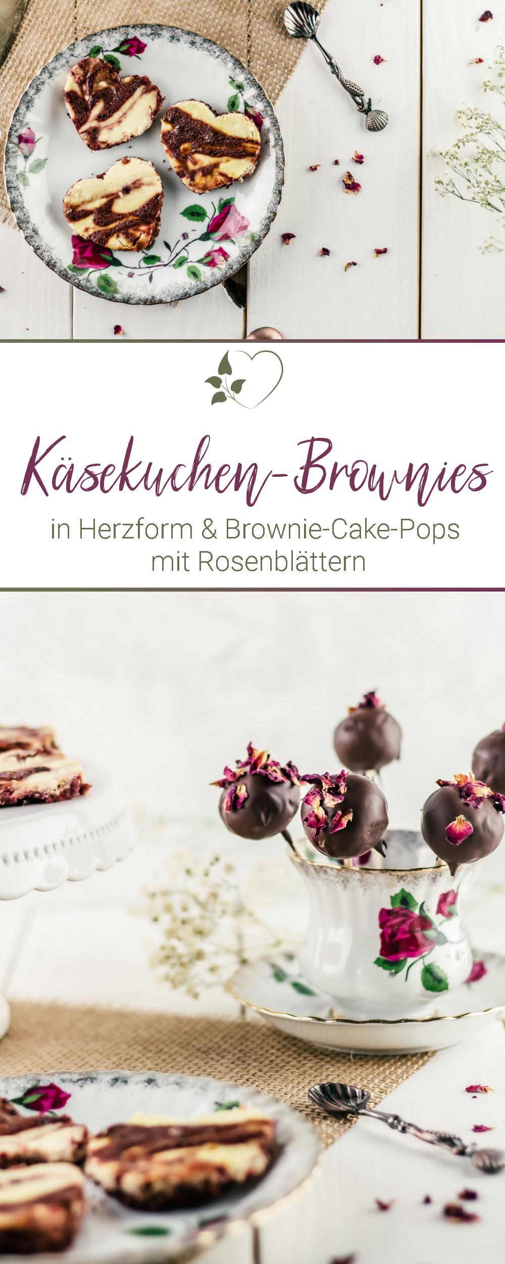 Käsekuchen-Brownies & Brownie-Cake-Pops - #brownies #cheescakebrownies #käsekuchenbrownies #cakepops #zuckerfrei #küchengeschenk #valentinstag #muttertag