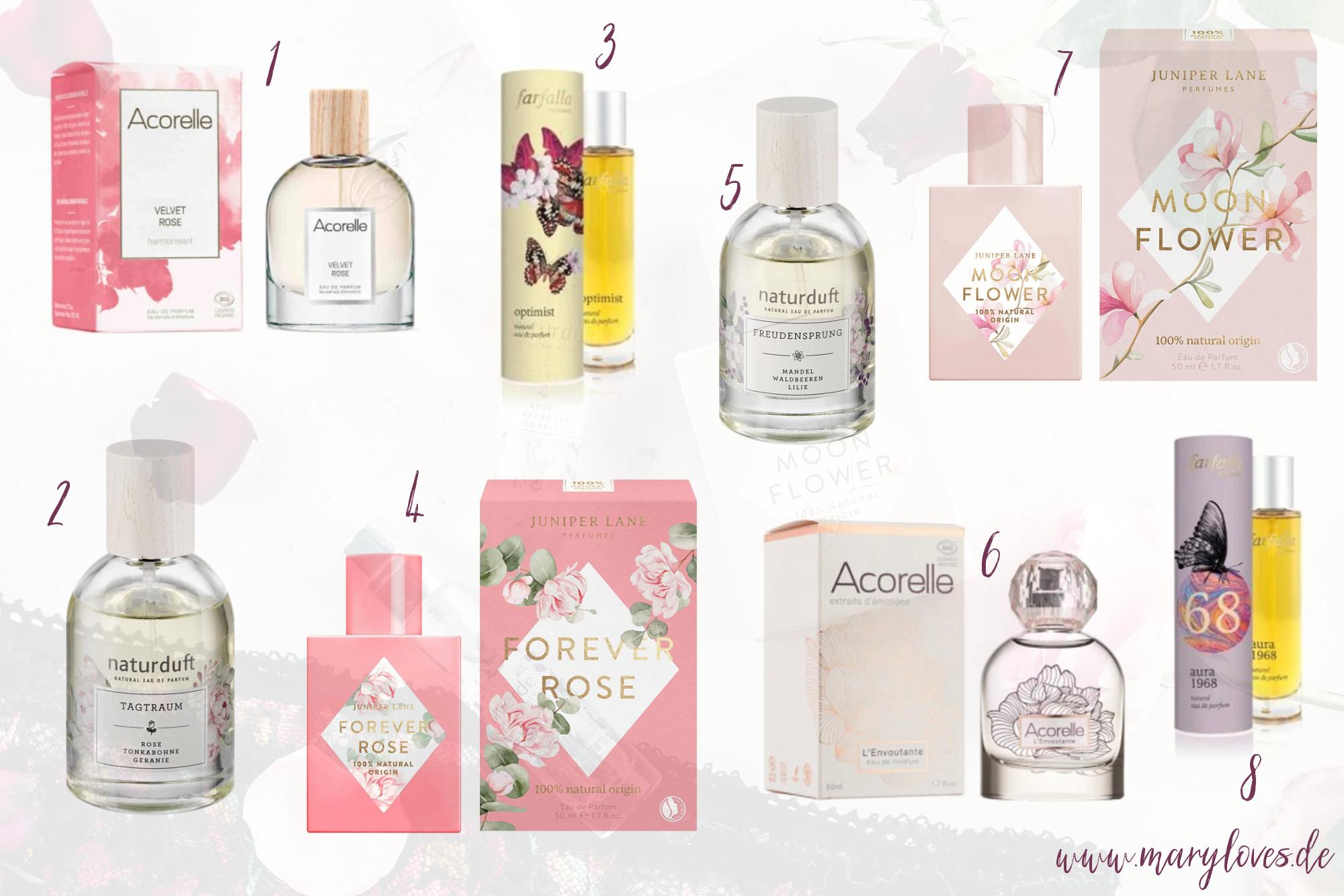 Naturdüfte und natürliche Parfums als Geschenkidee zum Valentinstag