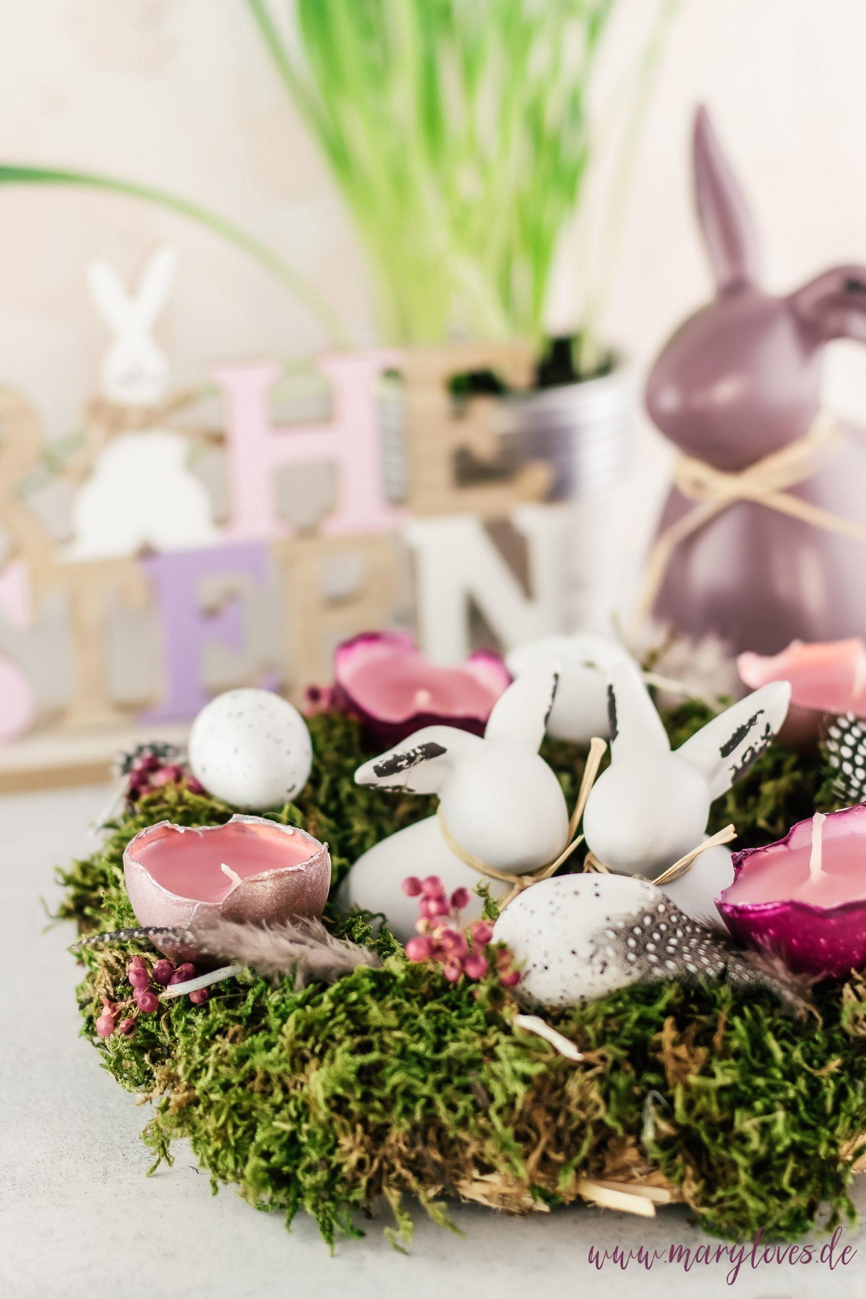DIY Osterdeko - Osterkranz aus Naturmaterialien selber machen