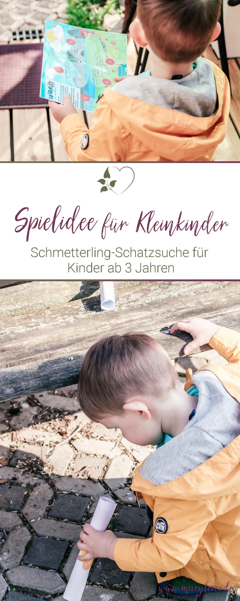 [Anzeige] Schatzsuche für Kleinkinder - Ein Schmetterling sucht seine Flügel - #schatzsuche #ausgefuxt #spielidee #kleinkind #beschäftigungsidee #kitakind