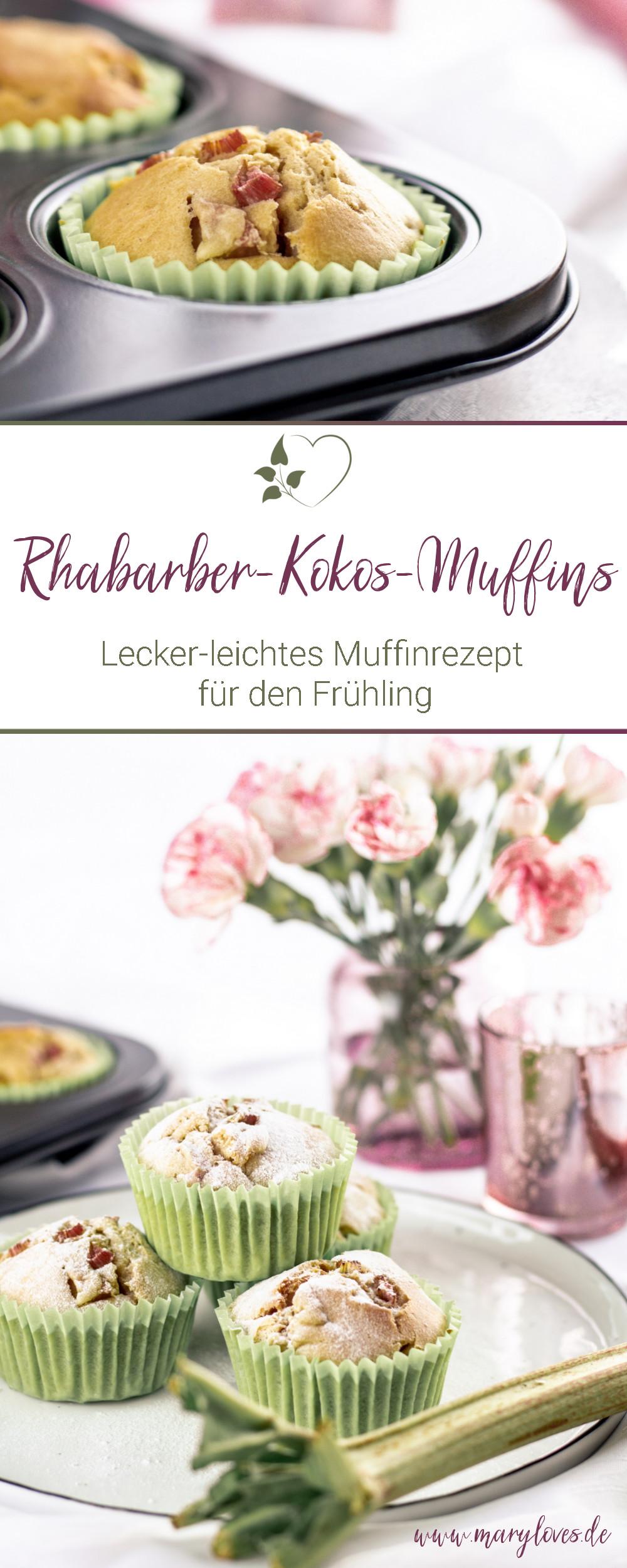 Süße Frühlingssaison mit lecker-leichten Rhabarber-Kokos-Muffins - #muffins #rhabarber #rhabarbermuffins #zuckerfrei #frühlingsrezept